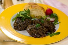 Sumac-Crusted Lamb Fillets with Baba Ganouj