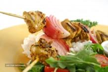 Tandoori Chicken and Vegetable Skewers